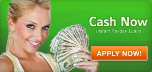 image is a woman holding cash from using online payday loan lender